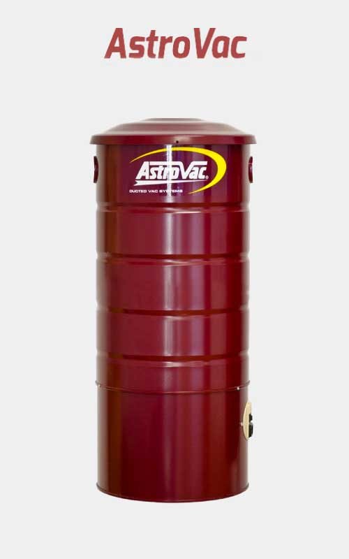 Burgundy red ASTROVAC Ducted Vacuum