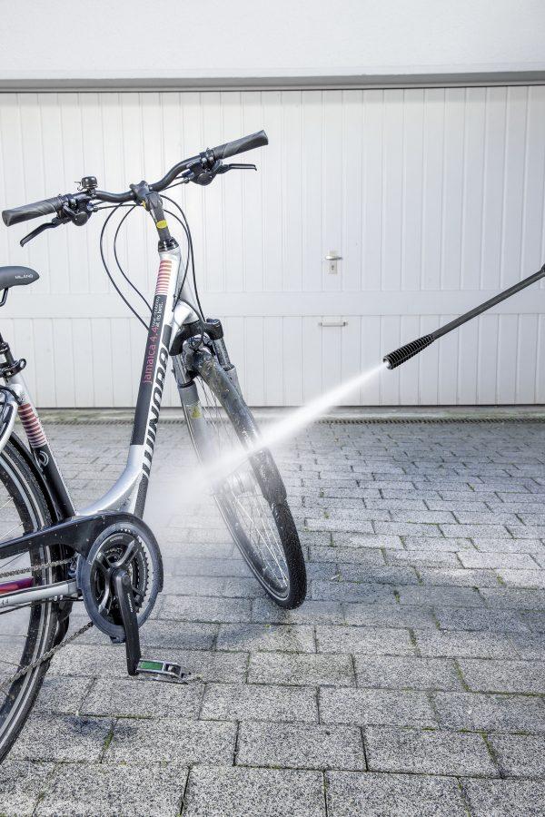 pressure washing bike at home