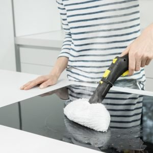 steam cleaning stovetop
